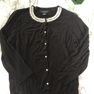 August Silk | black pearl sweater • M